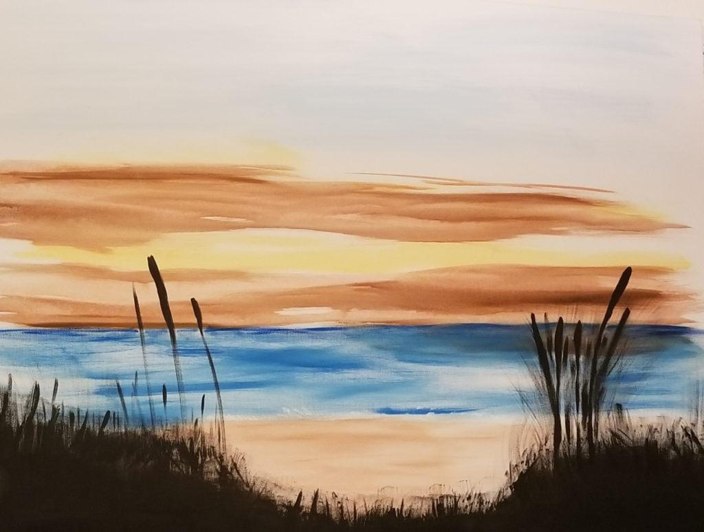 "Shore Line -24""x36"" Acrylic on Canvas $1,500  - Sold"