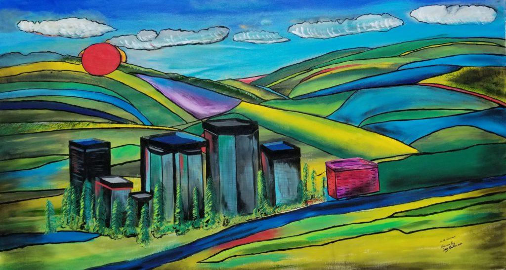 "Woodland Hills - 84""x42"" Acrylic $3,400 - Sold"